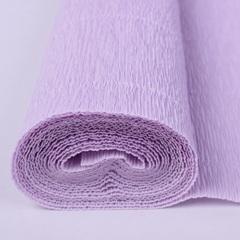 Гофрированная бумага однотонная. Цвет 592 светло-сиреневый , 180 г