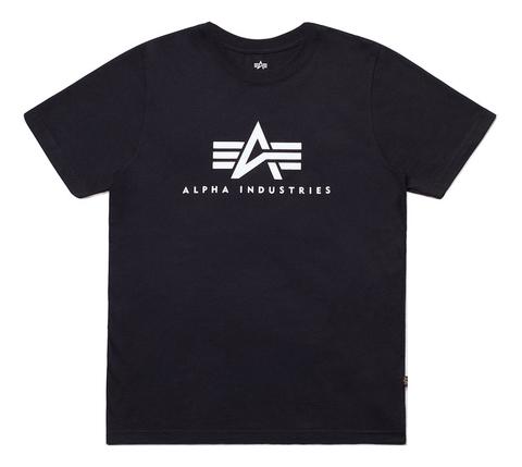 Футболка Alpha Industries Basic Logo Black (Черная)