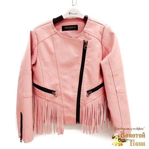 Куртка экокожа девочке (3-11) 200318-W8851.1