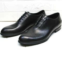 Классические туфли оксфорды мужские Ikoc 063-1 ClassicBlack.
