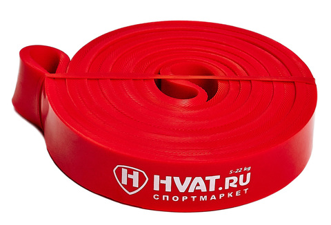 Купить красную резиновую петлю эспандер для тренировок и фитнеса 5-22 кг