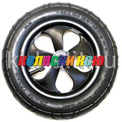 Колесо для детской коляски №003093 надув 12 дюймов 62-203 12 1/2х2 1/4 Черный диск, Серые спицы