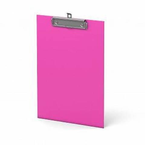 Планшет ERICH KRAUSE NEON А4 вертик. картон  розовый
