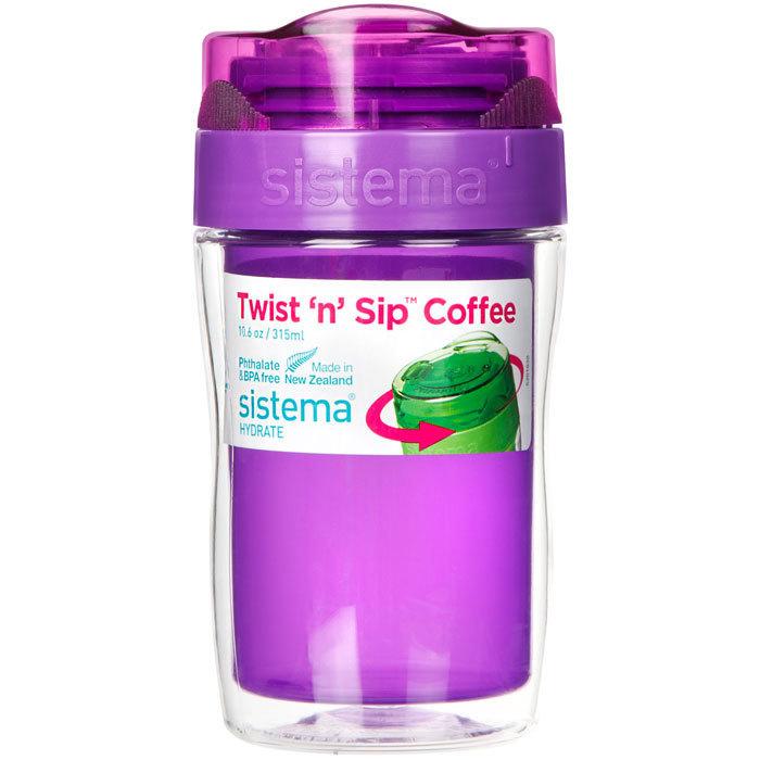 Термокружка Sistema 315 мл, цвет Фиолетовый