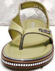 Кожаные сандалии босоножки на лето Evromoda 454-411 Olive.