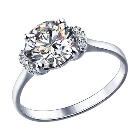 89010018 - Кольцо из серебра со SWAROVSKI