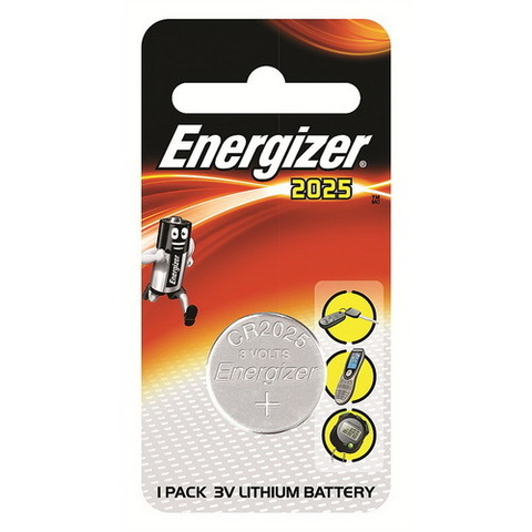 Батарейки Energizer CR 2025, 3V, 1 BL