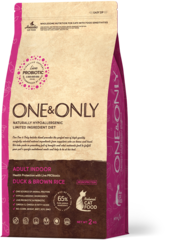 Сухой корм One&Only Duck & Brown Rice Adult Indoor