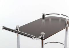 (VT-S-02) Сервировочный столик (MK-2315) (МДФ+хромир-й металл)  цвет: Темный орех