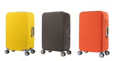 Чехол для чемодана оранжевый размер M