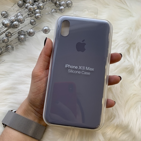 Чехол iPhone XS Max Silicone Slim Case /lavender gray/