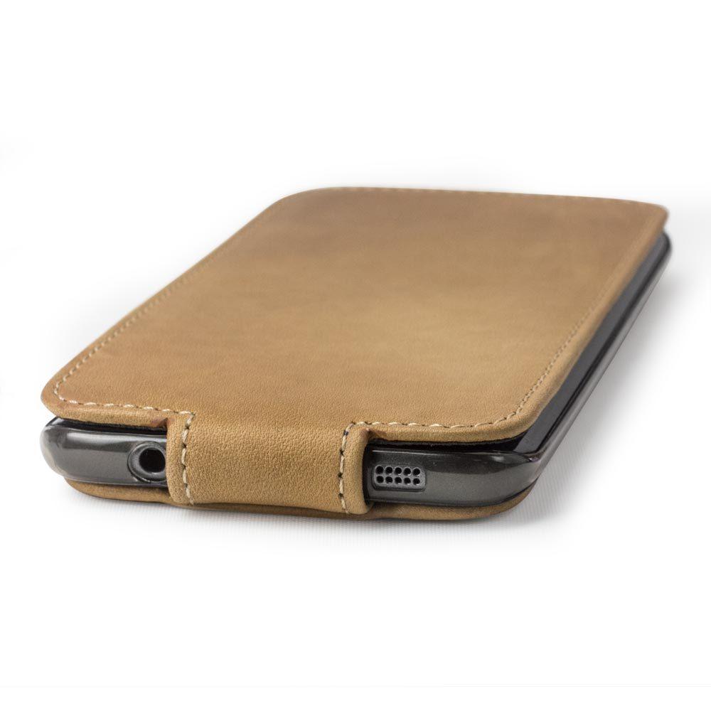 Чехол для Samsung Galaxy S7 edge из натуральной кожи теленка, цвета винтаж