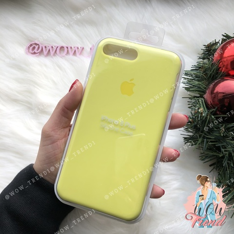 Чехол iPhone 7+/8+ Silicone Case /flash/ лимонный original quality