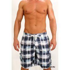 Мужские шорты пляжные клетчатые серые ABERCROMBIE&FITCH 52850