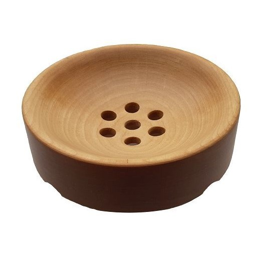Мыльница деревянная круглая