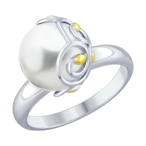 94012451 - Кольцо из серебра с жемчугом
