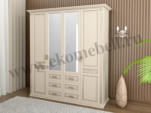 Шкаф «Верона» 4-х створчатый белый