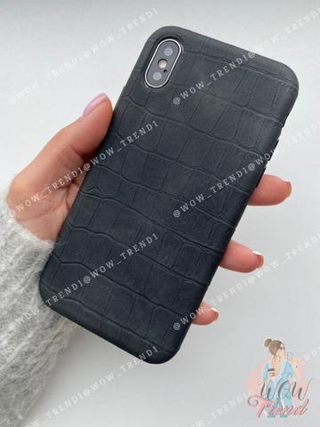 Чехол iPhone X/XS Leather case full /black/