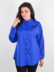 Ніколь. Жіноча сорочка для великих розмірів. Електрик.
