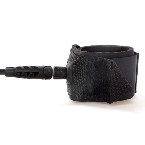 FCS 8' Regular Leash 7mm Black (Classic)
