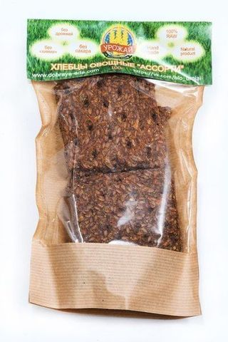 Хлебцы овощные Ассорти б/соли 100г БК Урожай