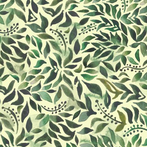 Акварельные листья
