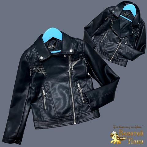 Куртка эко-кожа девочке (5-13) 210524-К74029