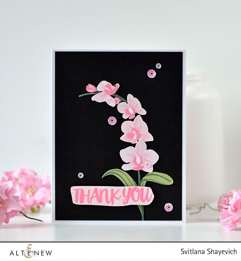 Набор штампов  Oriental Orchid Korean