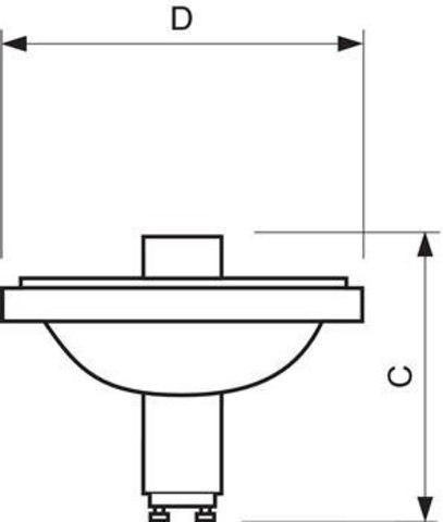 Philips CDM-R111 70W/830 10° GX8.5 Лампа металлогалогенная