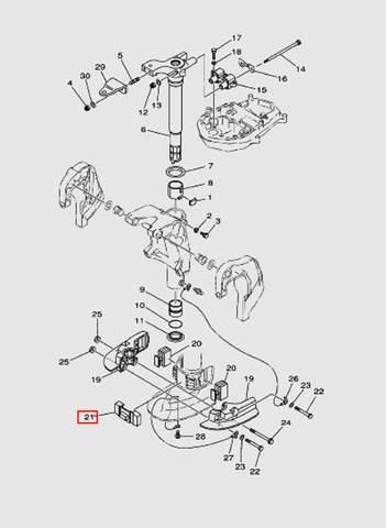 Демпфер резиновый для лодочного мотора T40 Sea-PRO (20-21)