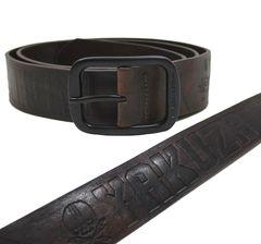 Ремень темно-коричневый Yakuza Premium 3174-2