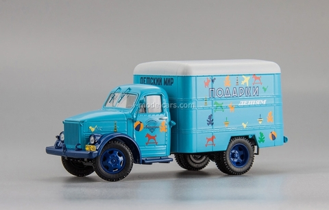GAZ-51 Gorkovsky truck type van 51 KI-51 Gifts for children 1953 DIP MODELS 1:43