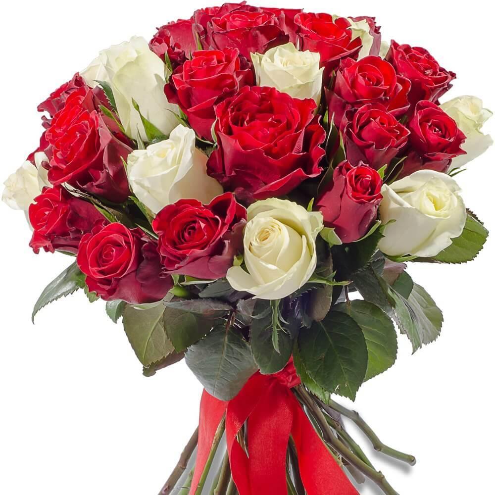 Букет 35 роз яркий микс