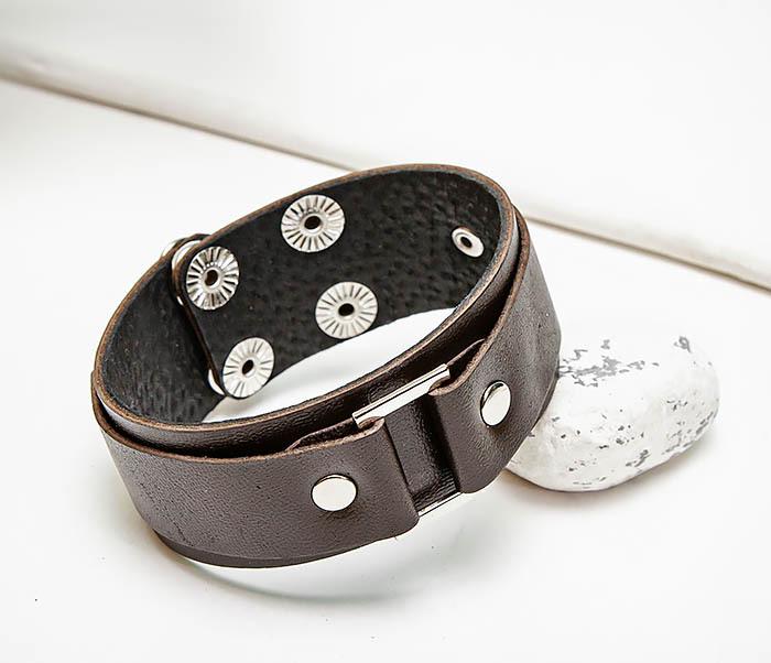 BL799-2 Мужской браслет напульсник ручной работы
