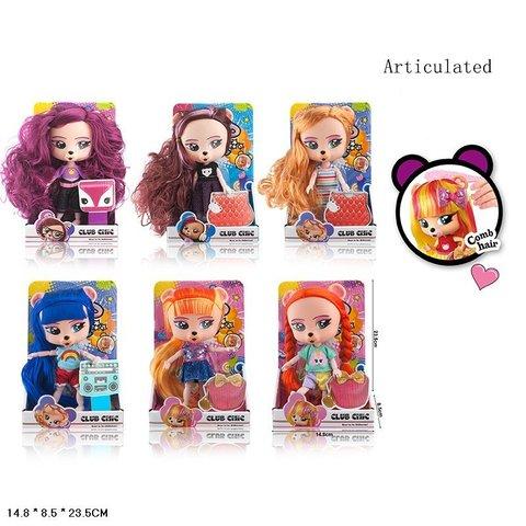 Кукла герои, с длинными волосами, 6 видов (в коробке), 01912