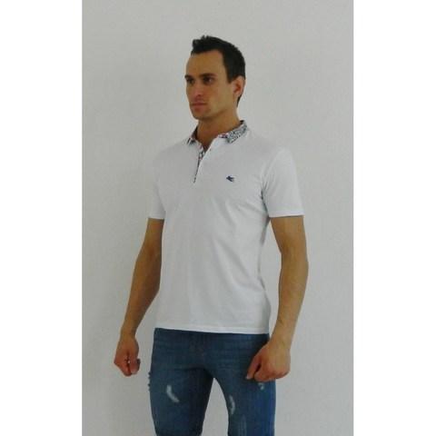 Мужская футболка поло белая ETRO