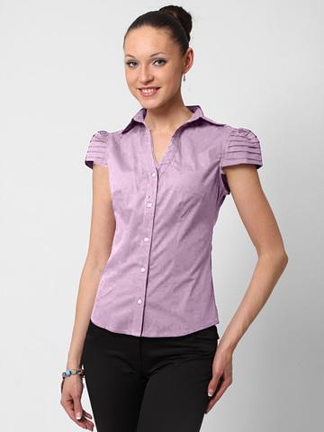 5583-3 рубашка женская, сиреневая