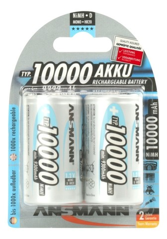 Аккумулятор D/NiMH ANSMANN maxE 1.2V 10000mAh