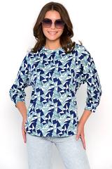 <p><span>Удобный блузон из трикотажа свободного кроя.</span></p>