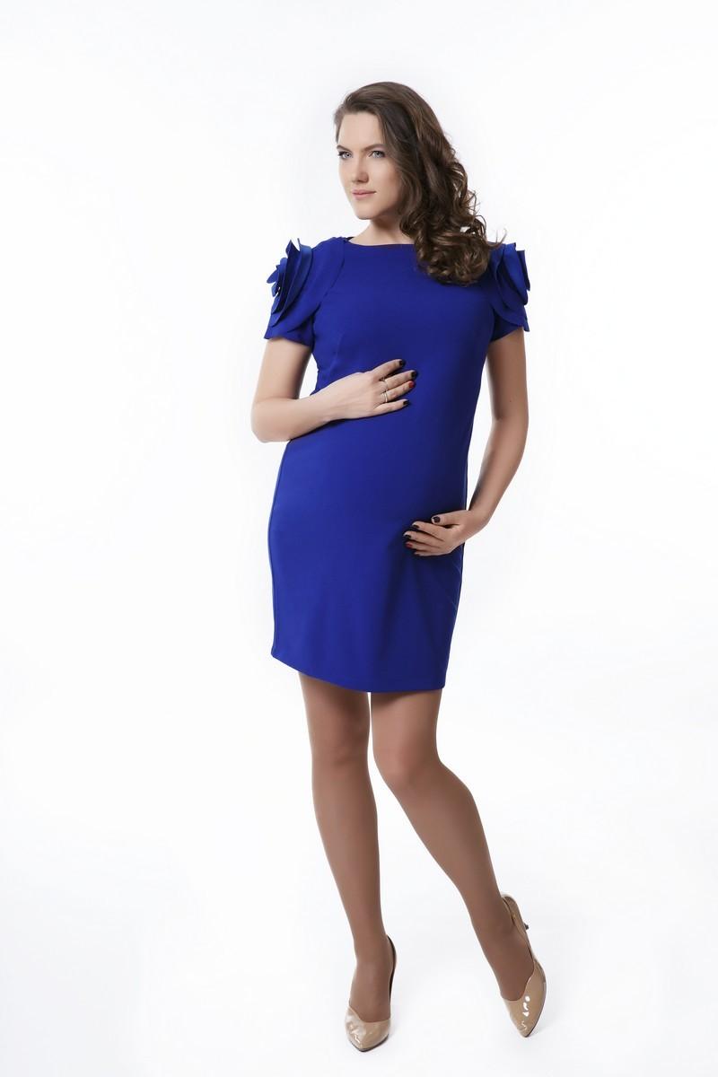 Платье для беременных 08291 ярко-синий