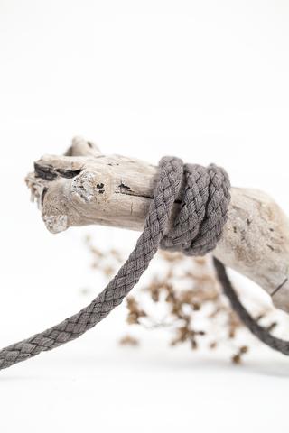 Хлопковый плетеный шнур темно-серый 5 мм