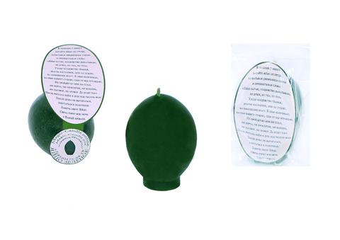 Свеча яйцо зеленое