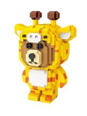 Конструктор LOZ Браун Жираф 890 деталей NO. 9231 Giraffe Brown Bear iBlockFun Series