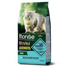 Monge Cat BWild Grain Free Сухой беззерновой корм для взрослых кошек из трески