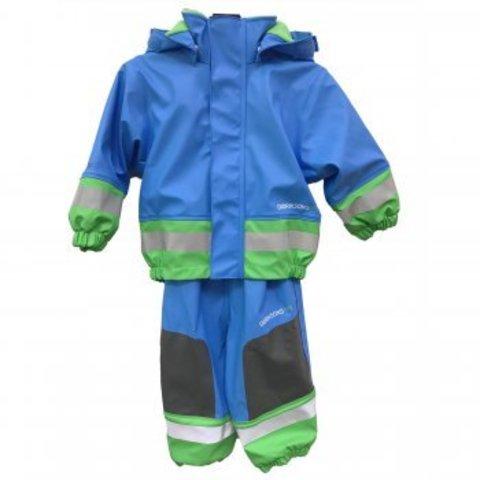 Детский комплект прорезиненный утепленный флисом BOARDMAN Didriksons бирюза-лайм