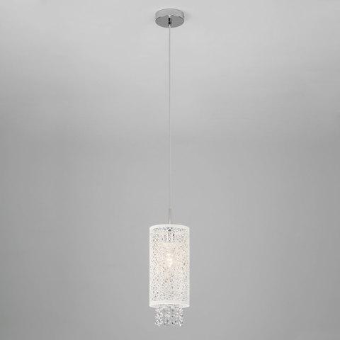 Подвесной светильник с хрусталем 1181/1 хром