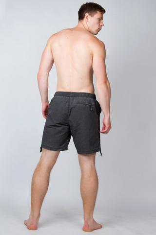 """Swim shorts """"Dark carbon with long stripe VELIKOROSS"""""""