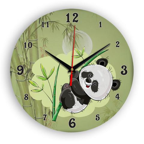 Часы детские настенные большие из МДФ 42 см плавный бесшумный механизм