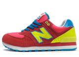 Кроссовки Женские New Balance 574 Red Yellow Blue