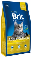 Корм для кошек, Brit Premium Cat Adult Salmon, с лососем в соусе